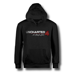 Sudadera Uncharted 4 Negra Logo Talla XL