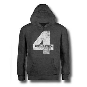 Sudadera Uncharted 4 Gris Four Talla L