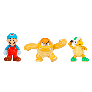 Pack de 3 Figuras 2cms Nintendo: Ice Mario, Boom Boom y Hammer
