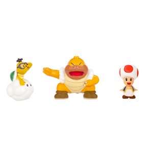 Pack de 3 Figuras 2cms Nintendo: Red Toad, Lakitu y Super Sumo