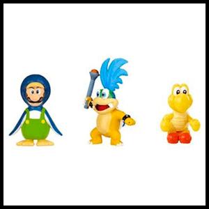 Pack de 3 Figuras 2cms Nintendo: Koopa, Penguin Luigi y Red Koopa