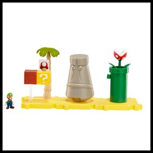 Microplayset Nintendo: Layer Cake Desert con Luigi