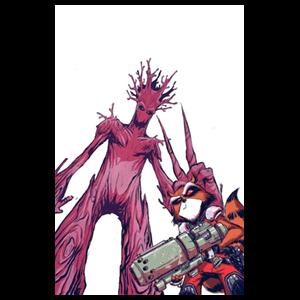 Mapache Cohete y Groot nº 18