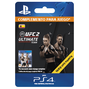 UFC 2 1600 UFC Points PS4
