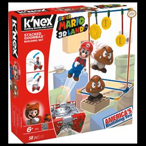 Set de Construcción Mario KNEX 58pzs: Stacked Goombas