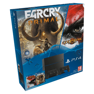 Playstation 4 1Tb + FarCry Primal + GoW 3 Remastered + 2º DualShock 4