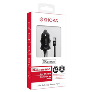 Adaptador Coche Negro para iPhone 5/6 Khora
