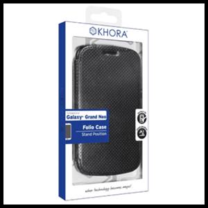 Carcasa Folio Negra para Galaxy Neo Khora