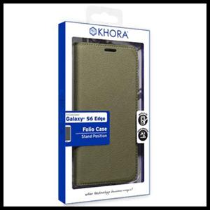 Carcasa Folio Verde para Galaxy S6 Edge Khora