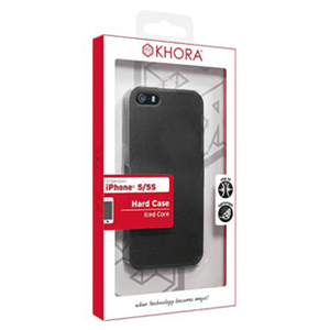 Carcasa rígida Negra Transparente iPhone 5/5S Khora