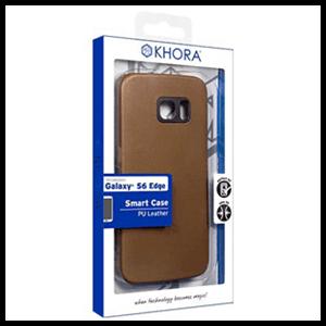 Carcasa Rígida Marrón para Galaxy S6 Edge Khora