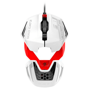 MadCatz  R.A.T.1 White Red - Raton Gaming