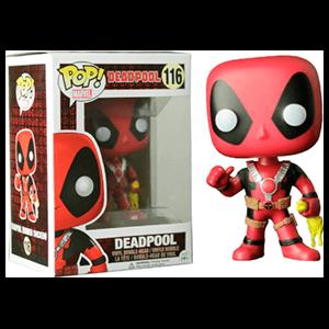 Figura Pop Deadpool con Pollo de Goma