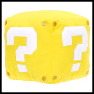Peluche Cubo Amarillo con Sonido 13cm