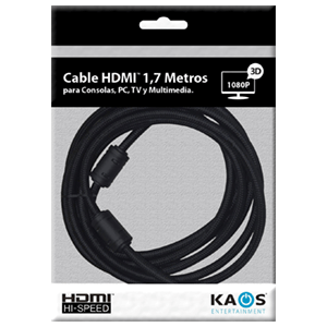Cable HDMi 1.4 High Speed 1,7m Kaos