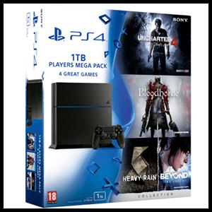 PlayStation 4 1Tb + Uncharted 4 + Bloodborne + HeavyRain + Beyond
