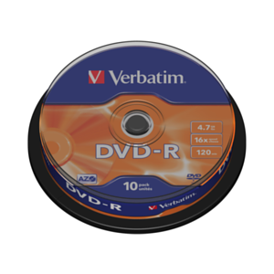 DVD-R VERBATIM SPINDLE 10UDS