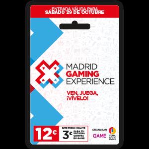 Madrid Gaming Experience. Acceso Sábado