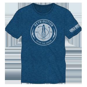 Camiseta COD Infinite Warfare Azul Talla XL