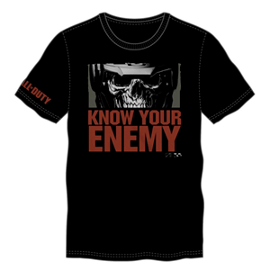 Camiseta COD IW Know your Enemy Negra Talla XL