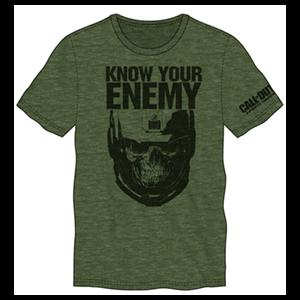Camiseta COD IW Know your Enemy Verde Militar Talla L