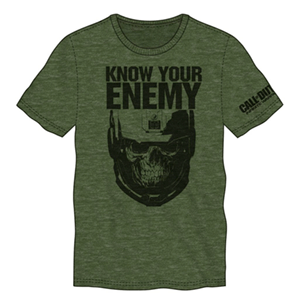Camiseta COD IW Know your Enemy Verde Militar Talla XL