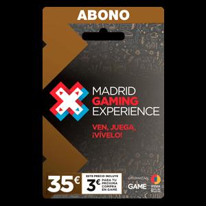 Bono 5 dias Madrid Gaming Experience
