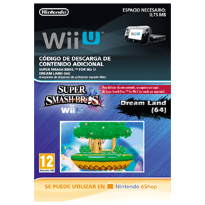 Super Smash Bros Escenario Dream Land 64 - Wii U
