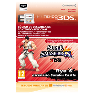 Super Smash Bros Luchador Ryu & Escenario Suzaku Castle - 3DS