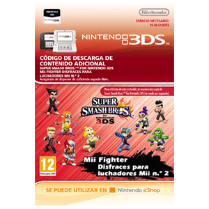 Super Smash Bros Disfraces Para Luchadores Mii 2 - 3DS