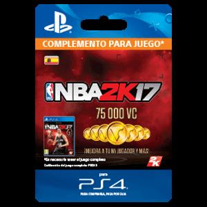 75,000 VC NBA 2K17 PS4