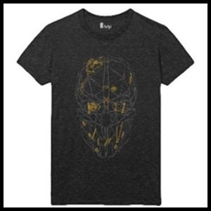 Camiseta Dishonored 2 Máscara de Corvo Talla M