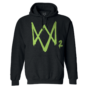 Sudadera con Capucha Watch Dogs 2 Logo Verde Talla  M