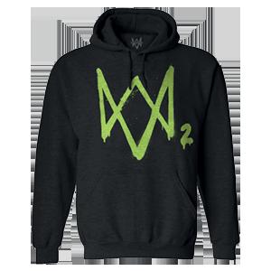 Sudadera con Capucha Watch Dogs 2 Logo Verde Talla  XL
