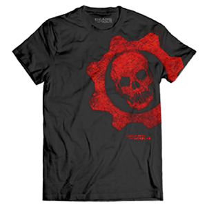 Camiseta Negra Gears of War 4 Talla L
