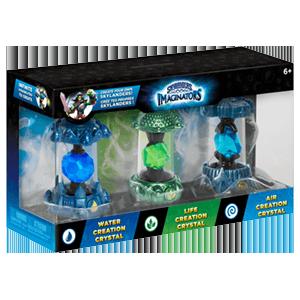 Pack Skylanders Imaginators 3 Cristales: Agua - Aire - Vida