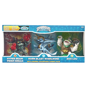 Classic Triple Skylanders Imaginators Pack 2: Prism Break - Whirlwind - Zoo Lou