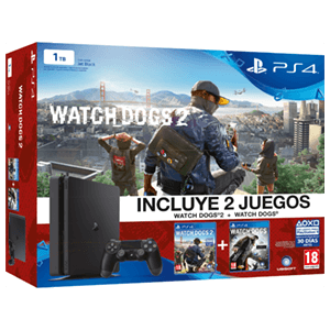 Playstation 4 Slim 1Tb + Watch Dogs + Watch Dogs 2
