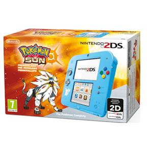 Nintendo 2DS Azul + Pokemon Sol (Preinstalado)