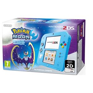 Nintendo 2DS Azul + Pokemon Luna (Preinstalado)