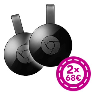 Google Chromecast 2ª Generación 2x68€