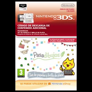 Pasadibujos: Set de papeles y brillo de plata - 3DS