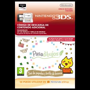 Pasadibujos: Set de papeles y brillo de bronce - 3DS
