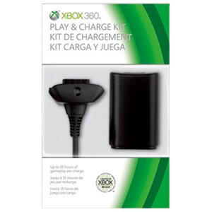 Kit Carga y Juega Microsoft Negro 2010