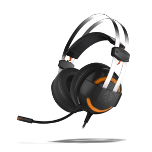 KROM Kode 7.1 LED Naranja PC-PS4 - Auriculares Gaming