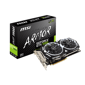 MSI GeForce GTX 1060 Armor OCV1 6GB