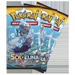 Sobre 10 Cartas Pokemon Sol y Luna