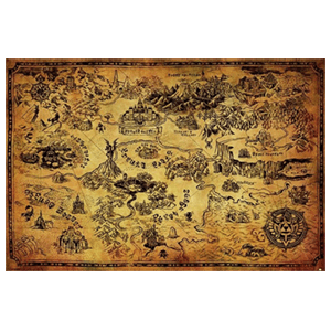 Poster The Legend of Zelda Hyrule Map