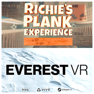 HTC VIVE + DLC 2 juegos: Richies Plank y Everest VR