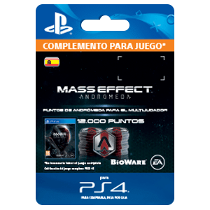 12000 Mass Effect Andromeda Points PS4